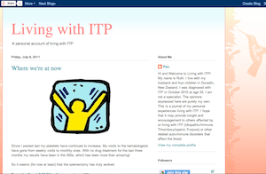 living with itp, itp blog