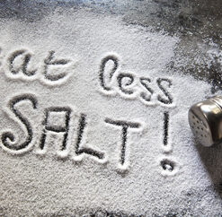 Message about excessive salt consumption.