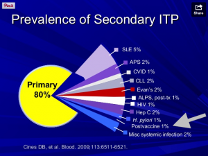 ITP chart, ITP facts, ITP statistics, Secondary ITP, Primary ITP